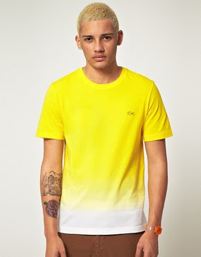 Image 1 ofLacoste Live! Slim Fit Bleached Out T-Shirt