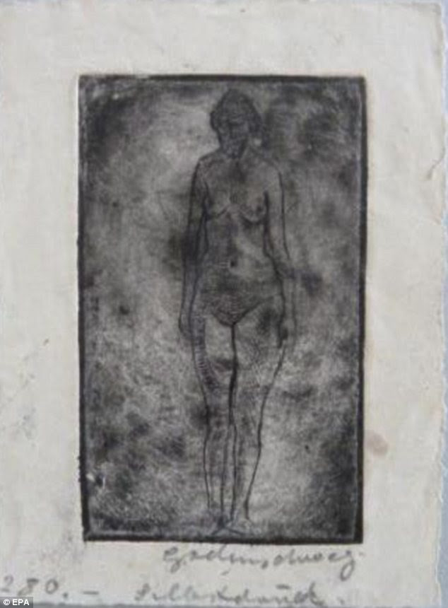 Sketch: Ludwig Godenschweg's Female Nude (undated)