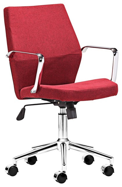 Zuo Holt Collection Low Back Red Office Chair - contemporary ...