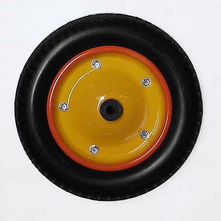 Pick Up Tricycle Front Steel Wheel With Mounted Tire And Inner Tube