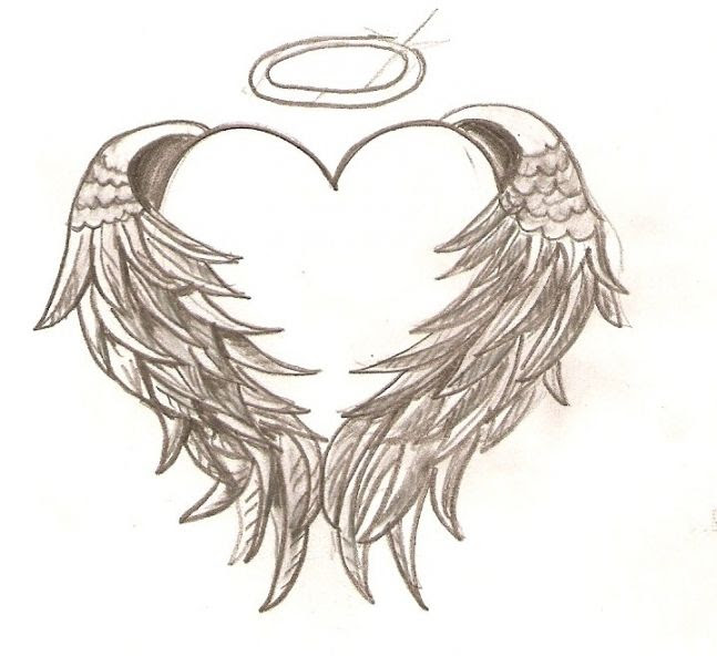 Hearts With Wings Drawing At Getdrawingscom Free For Personal Use
