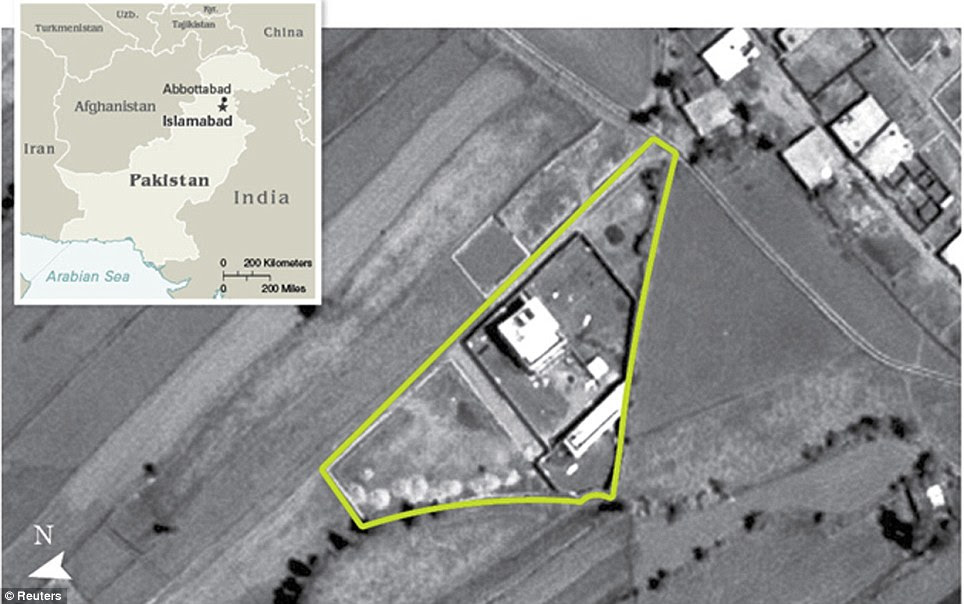 Bin Laden's lair: The compound in Abbottabad, Pakistan, was half a mile from a military academy. If it had been hit in an air strike there would likely have been civilian casualties