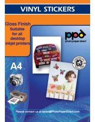 Ppd Ltr 85 X 11 Inkjet Gloss Vinyl Self Adhesive Sticker Paper X20