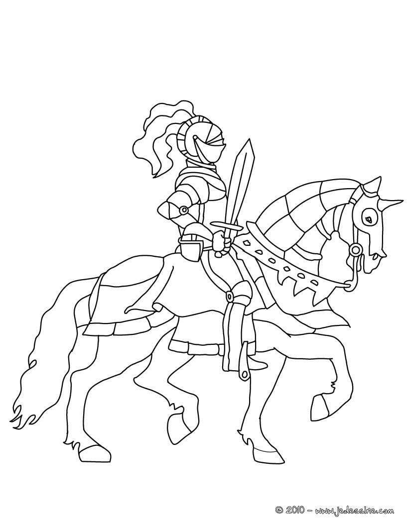 knight on horseback putting up his sword 01 4m8 2qg