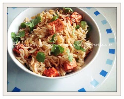 Tandoori Tofu & Bellpepper Rice