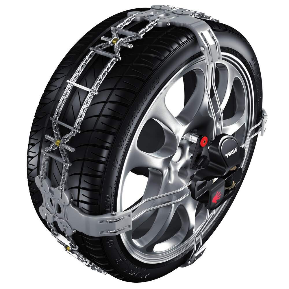 Thule Premium Self Tensioning Snow Tire Chains Diamond Pattern D Link K Summit Size K23