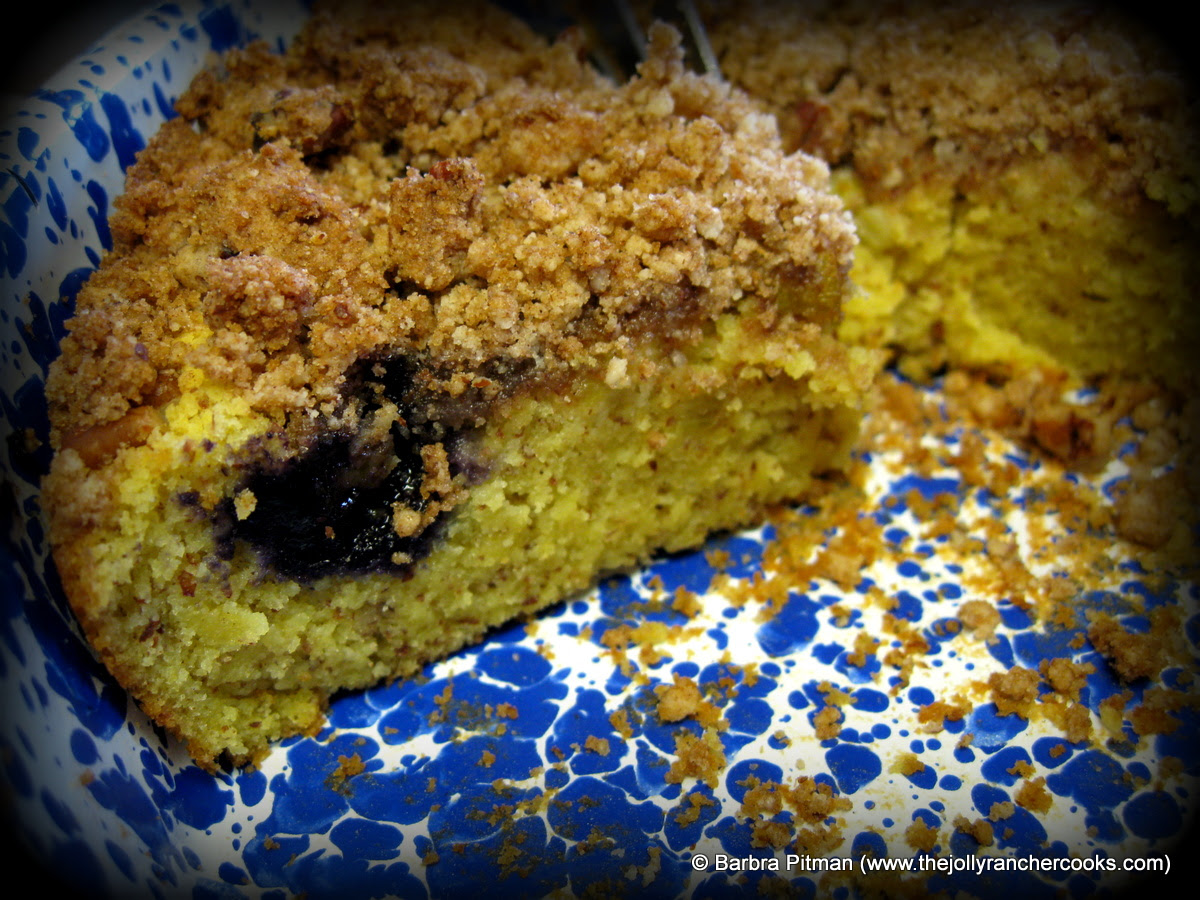 Blueberry Rhubarb Coffee Cake (gluten-free) | The Jolly ...