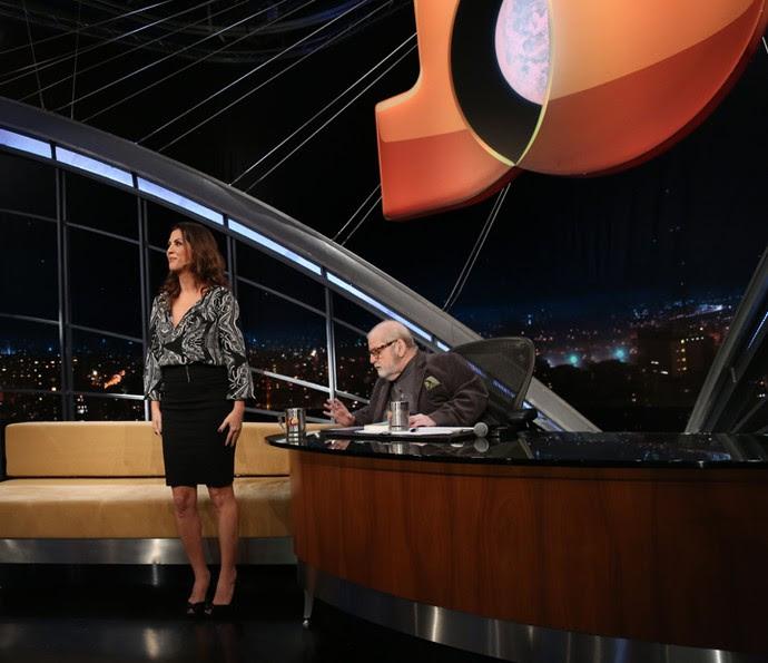 Thalita Rebouças mostra as canelas para o público (Foto: Carol Caminha/Gshow)