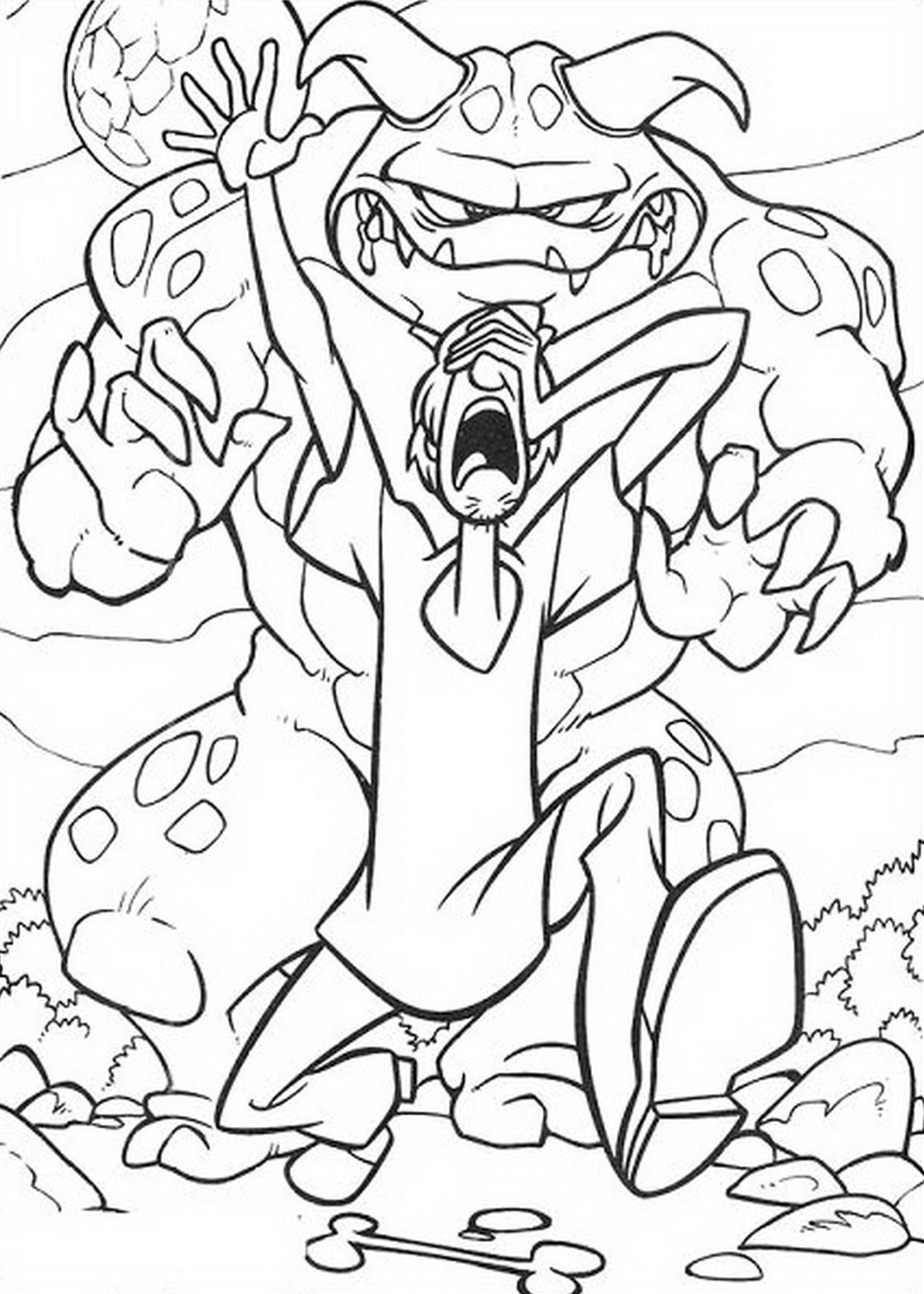 Scooby Doo Monster Coloring Pages at GetDrawings | Free ...