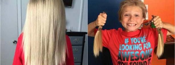 Rapaz de 8 anos gozado por ter cabelo comprido. Queria doá-lo