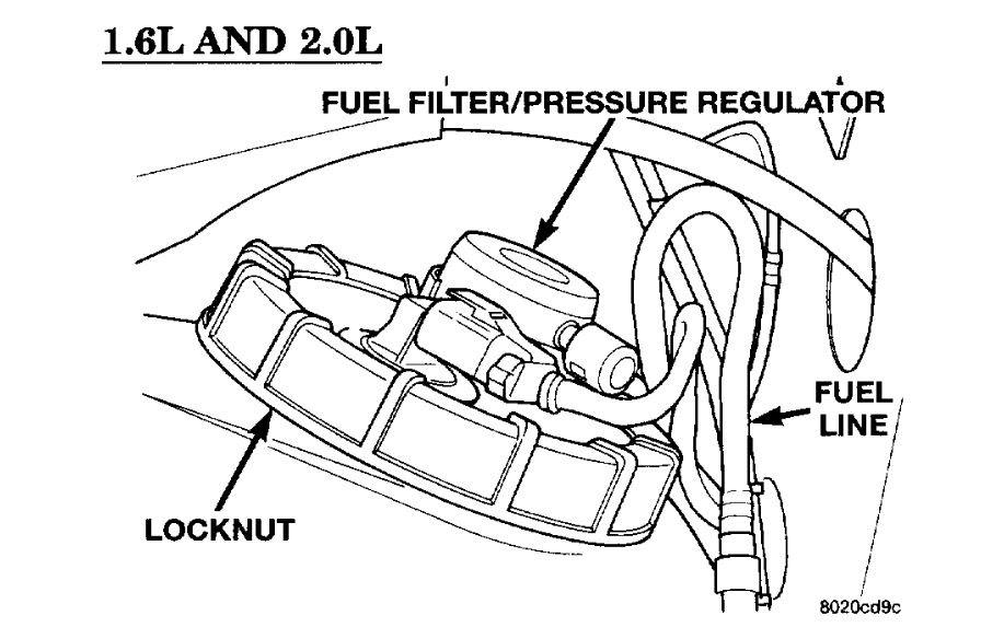 2007 Dodge Caliber Fuel Filter