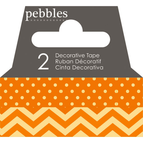 American Crafts - Pebbles - Basics Collection - Washi Tape - Dot and Chevron - Honeycomb