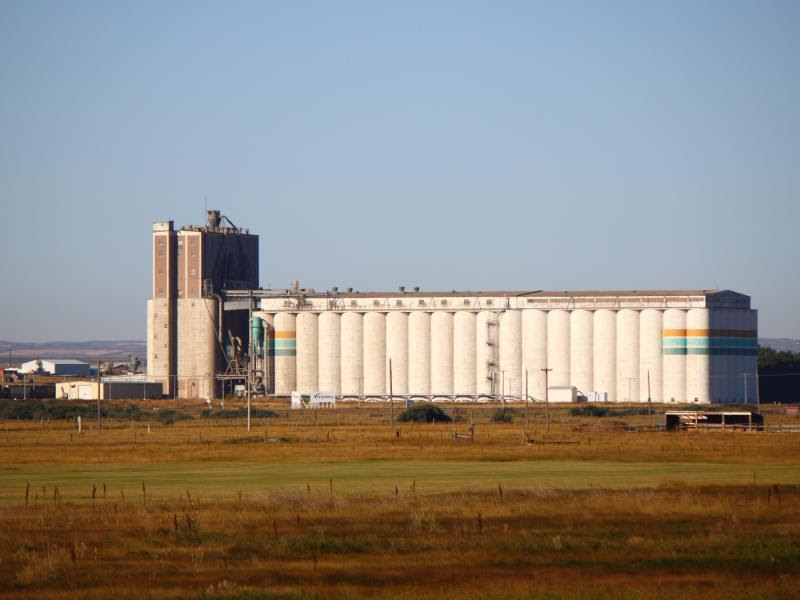 The Viterra grain elevator in Moose Jaw, Saskatchewan