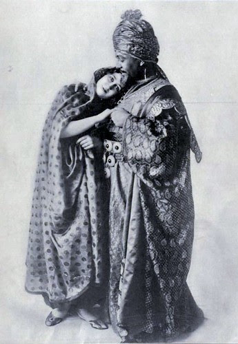 Edwardian Theatre - Rita Jolivet and Otis Skinner in Edward Knoblauch's oriental play 'Kismet' in 1912