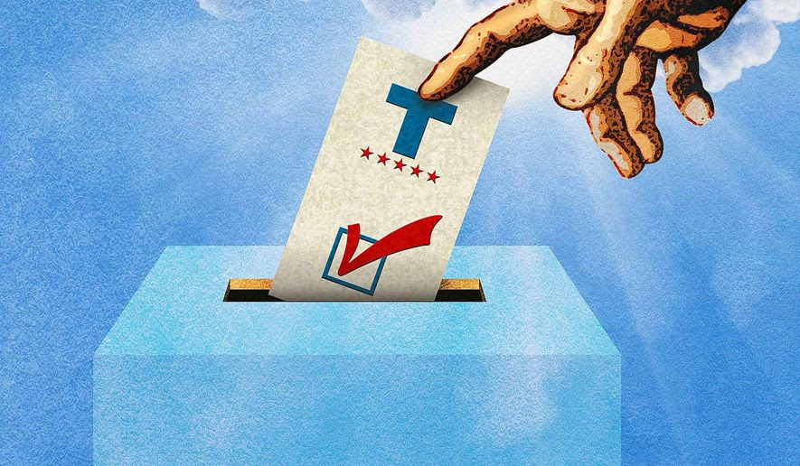 The God Vote Illustration by Greg Groesch/The Washington Times