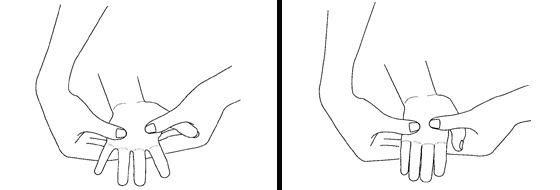 Illustration of an exercise for the fingers
