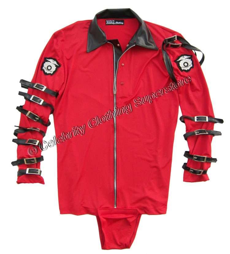 Michael Jackson Red Bodysuit
