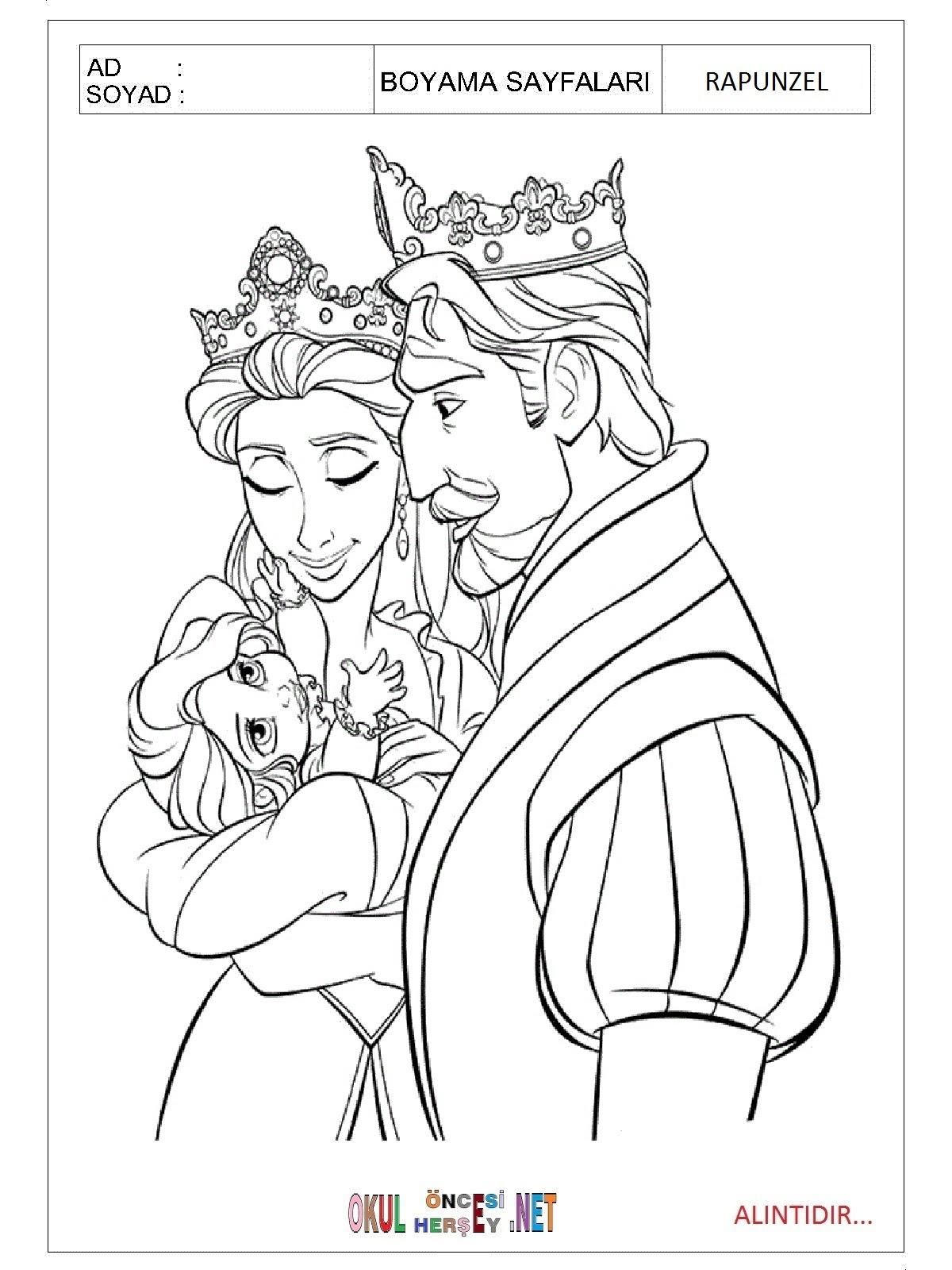 Boyama Sayfaları Prenses