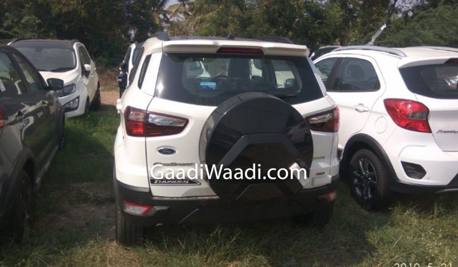 Ford Ecosport Thunder Edition Spied In India