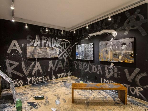 Choque teve seis obras destruídas por pichadores (Foto: Divulgação)
