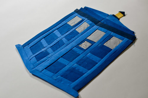 Dr. Who TARDIS Quilt (no background!)