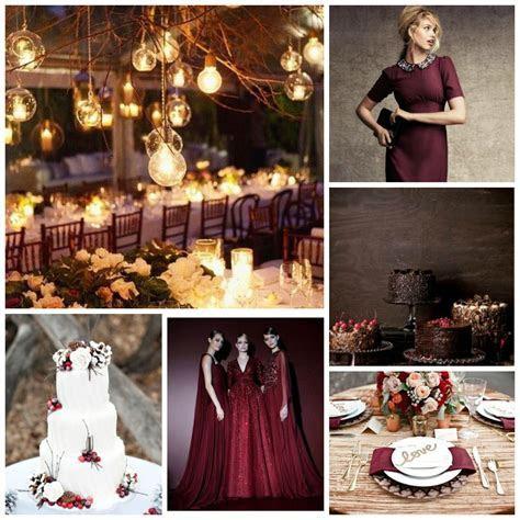 Autumnal Wedding Inspiration. Oxblood, blush, cream, white