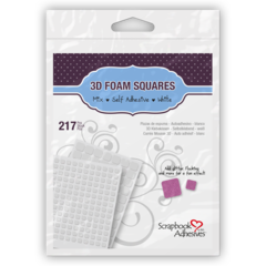3D Foam Squares Mix White 217