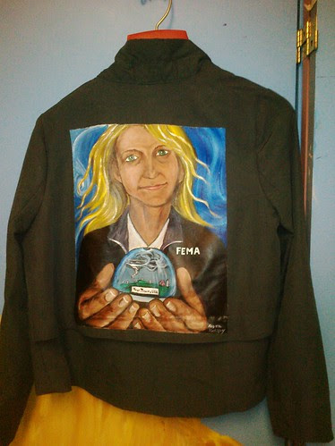 """Greetings from Your Town, USA"" a jacket for Angela Lynn"