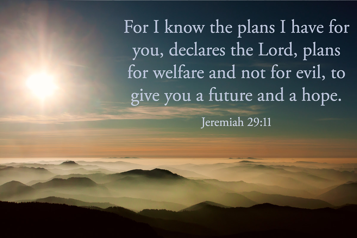 For I Know The Plans I Have For You Declares The Lord Plans For