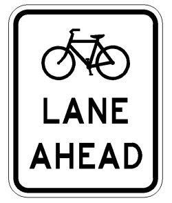 bike lane sign