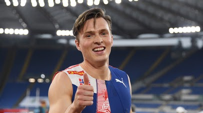 Вархольм установил новый мировой рекорд в беге на 400 метров с барьерами