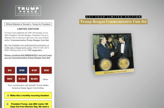 Reagan Foundation orders Trump campaign and RNC stop using Ronnie's name to fundraise, sell junk