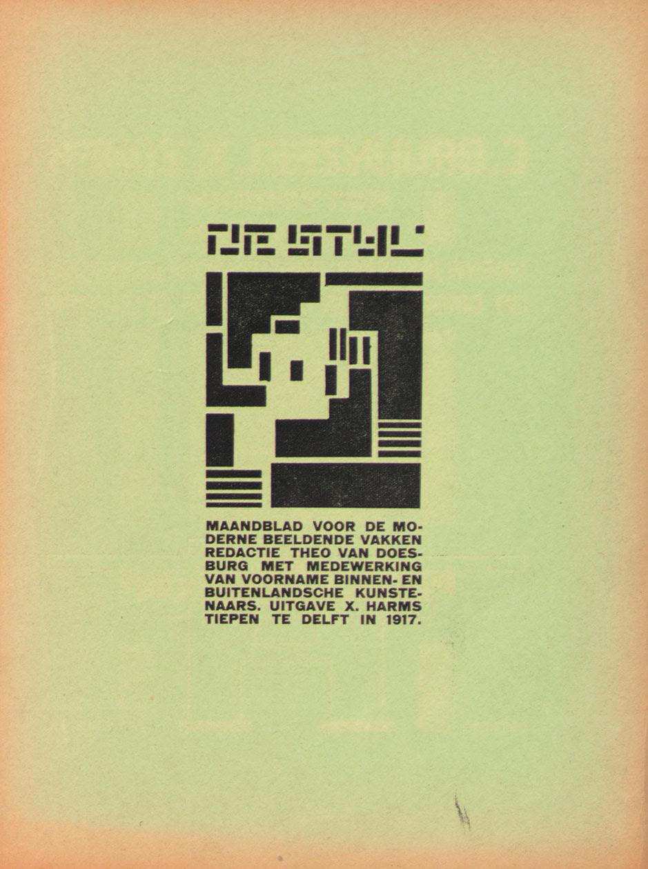 Theo van Doesburg, De Stijl magazine, 1917