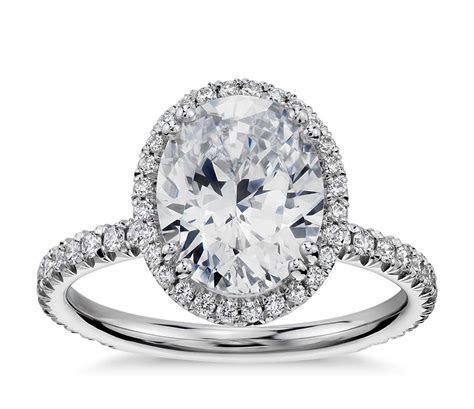 Blue Nile Studio Oval Cut Heiress Halo Diamond Engagement