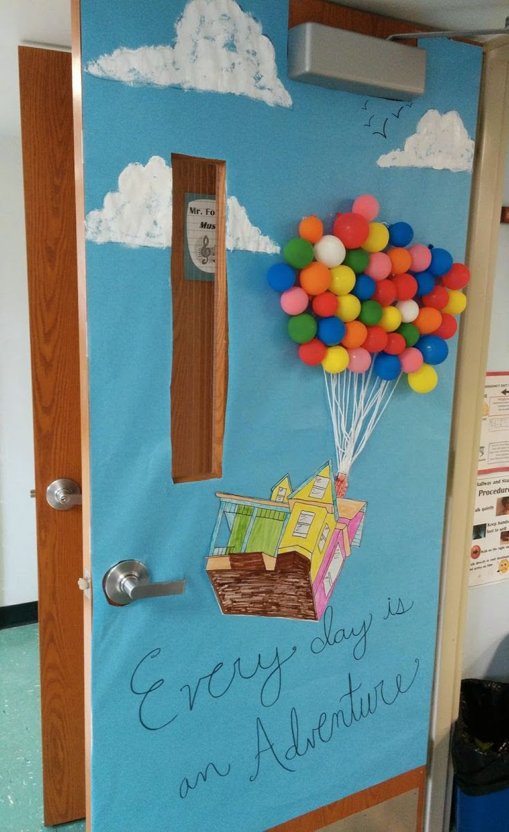 Classroom Door Decor for Spring - 'Up' Disney Pixar... adventure theme!
