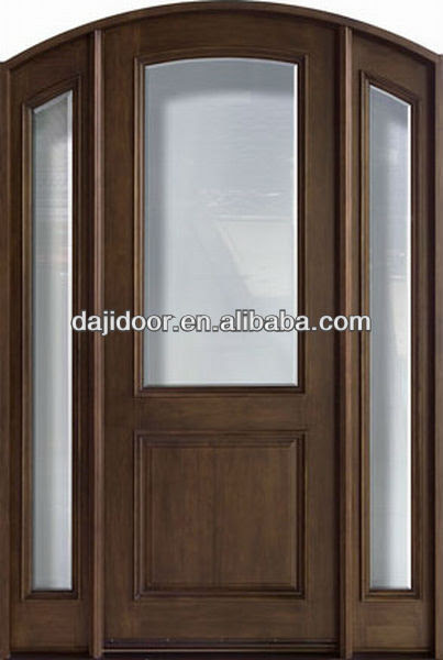 Arch Half Lite Glass Wooden French Doors Design With Side Lite DJ ...