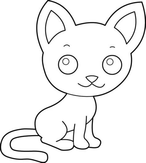 cute kitty cat   big ears coloring page kids play