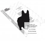 Welsh Corgi Dog Silhouette Yard Art Woodworking Pattern - fee plans from WoodworkersWorkshop® Online Store - Welsh Corgi,dogs,pets,animals,yard art,painting wood crafts,scrollsawing patterns,drawings,plywood,plywoodworking plans,woodworkers projects,workshop blueprints