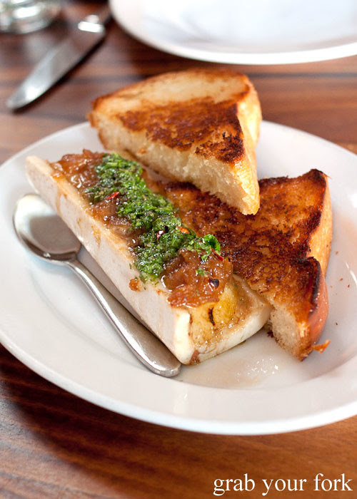 bone marrow with toast at animal restaurant los angeles by jon shook and vinny dotolo