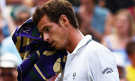 andy murray wimbledon 09. Andy Murray in action against