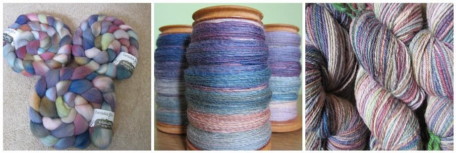 Corriedale fibre - Hedgehog fibres