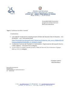 Esami Stato 2019 2020 Conferenze Di Servizio Per Presidenti Di Commissione E Relative Slide Ministero Dell Istruzione