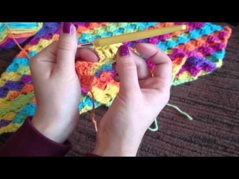 Crochet Chevron stitch baby blanket.