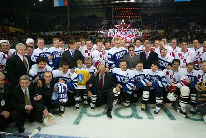 Larionov Farewell Game group photo