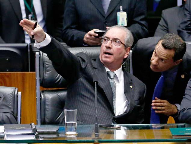 """""""GALERIA CAMARA"""" - Sessão de votação do impeachment da presidente Dilma Rousseff na câmara dos deputados. O presidente da câmara dep. Eduardo Cunha (PMDB-RJ) preside a sessão"""