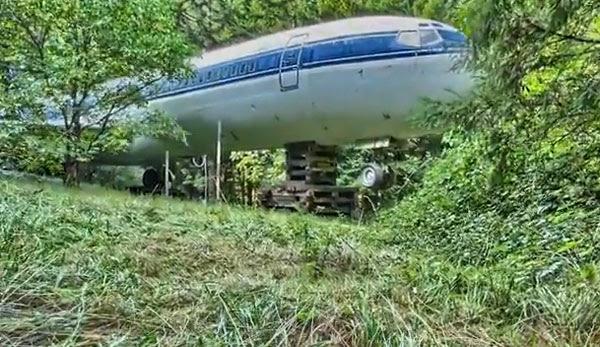 Perierga.gr -  Παλιό αεροπλάνο της Ολυμπιακής γίνεται σπίτι