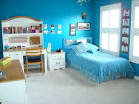 Photo 05 – Blue Wall Painting for Girls Bedroom : Home Improvement ...