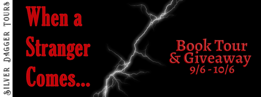 Book Tour Banner for  psychological thriller When a Stranger Comes by Karen S. Bell  with a Book Tour Giveaway