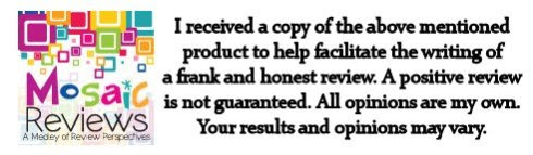 I received a copy of the above product to facilitate the writing of a frank and honest review. A positive review is not guaranteed. All opinions are my own. Your results and opinions may vary.