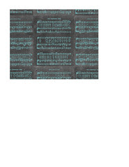 landscape A2 card size JPG Vintage GF Christmas Sheet Music chalkboard & turquoise SMALL SCALE